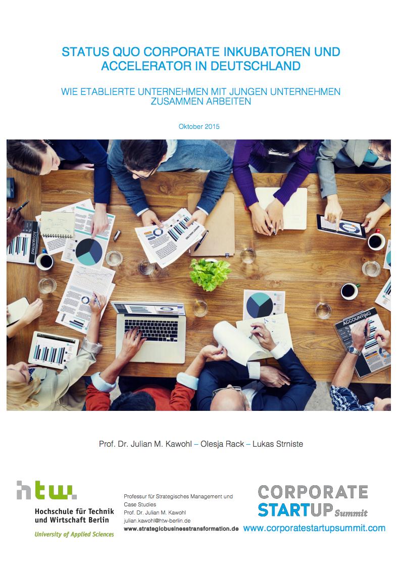 Studie Status Quo Incubator Accelerator Programme